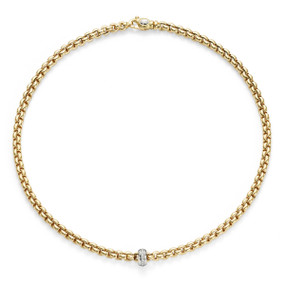 18ct Yellow Gold & Diamond Fope Olly Necklace