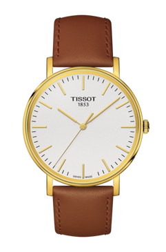 Tissot Everyday Medium. Brown strap and PVD Case.