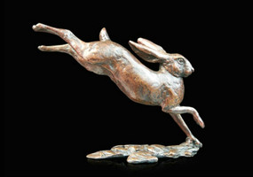 Limited Edition Richard Cooper bronze  'Small Hare Running'.