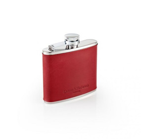 Daines & Hathaway 4oz Hip Flask - Tan Leather & Steel