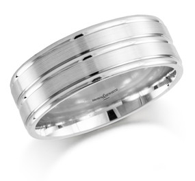 Gents Three Row Wedding Ring