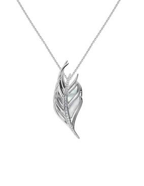 Shaun Leane Silver & Diamond Feather Pendant