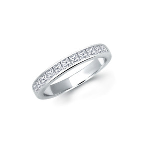 Princess Cut Diamond Half Eternity Ring (Prices from £1245.00)