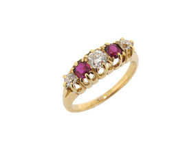 Pre-Owned Ruby and Diamond Ring (£1250.00)