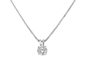 Single Diamond Pendant  (Prices start from £915.00)