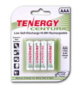 Tenergy AAA 800mah Centura Ni-MH (Hybrid LSD) 4 Per Pack