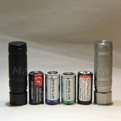 Logan Pocket - Hard Anodized Aluminum - CR123A (Lithium), RCR123A (LiFePO4, Li-ion 3.0V, Li-ion 3.7V)  - Stainless Steel