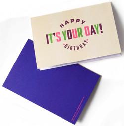 Happy Birthday Card English