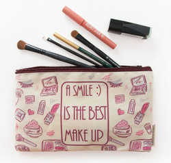 A Smile Is The Best Makeup- Makeup Pouch
