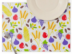 Seven Species Laminated Placemats - Set of 4