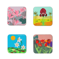 Flowers of israel- Coaster set of 4