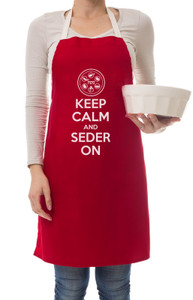 Keep Calm and Seder on Apron Passover Apron