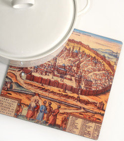 Trivet - Old City Jerusalem Map