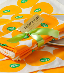 Jaffa Orange Napkins and Placemats