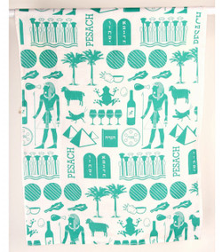 Pharaoh Print Dish Towel - Teal