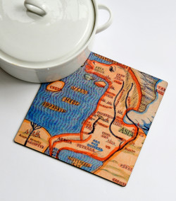 Trivet - Italian Horse Map of Jerusalem
