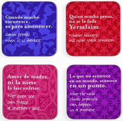 Set of 4 Coasters - Ladino Set 1