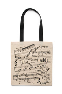 Tote Bag - Music Notes