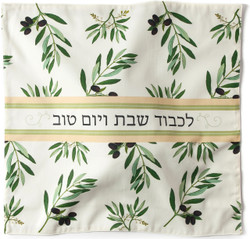 Challah Cover - Olive Branch