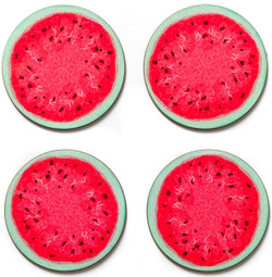 Coasters set of 4 - Watermelon