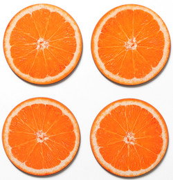 Coasters set of 4 - Orange Slice