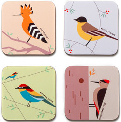Flight of Fancy - Coasters set of 4