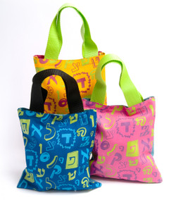 Fun Aleph Bet Mini Tote