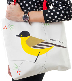 Tote Bag - 'Flights of Fancy' Wagtail Bird