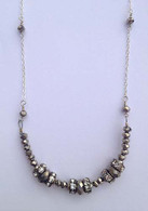 Silver Sparkle Beaded Bib Necklace