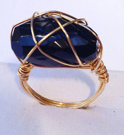 Gold Wire Wrapped Agate Ring