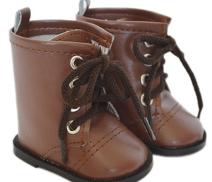 My Brittany's Brown Tie Boots for American Girl Dolls