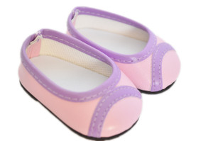 My Brittany's Purple and Pink Flats For American Girl Dolls