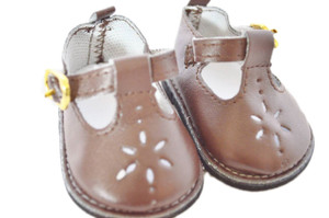 My Brittany's Brown Flower Shoes For American Girl Dolls