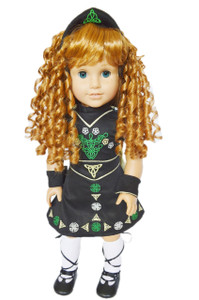 My Brittany's Irish Dance Outfit for American Girl Dolls Complete with Shoes, Wig, and Socks