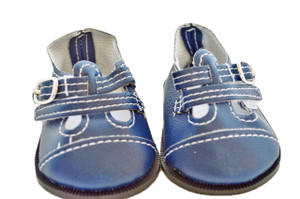 BLUE TO BUCKLE LEATHER SHOES FOR AMERICAN GIRL DOLLS