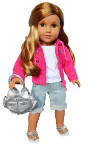 My Brittany's Pink Star Set for American Girl Dolls Complete with Bag and Shoes