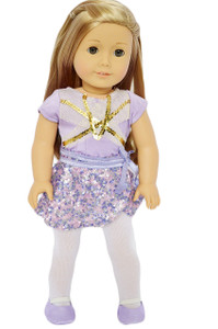 My Brittany's Lavender Leotard and Skirt Set for American Girl Dolls