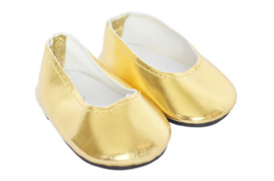 My Brittany's Gold Flats For American Girl Dolls