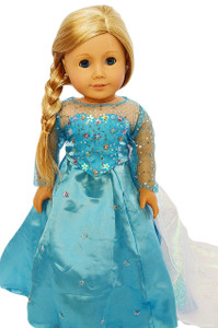 My Brittany's Elsa Inspired  Dress for American Girl Dolls- 18 Inch Doll Clothes