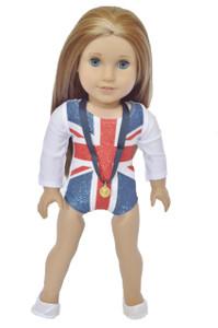 Union Jack Gymnastics for American Girl Dolls- 18 Inch Doll Clothes