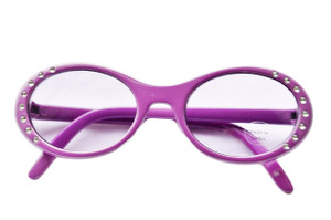 LAVENDER GLASSES WITH GEMS