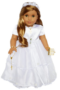 Communion Gown for American Girl Dolls Complete