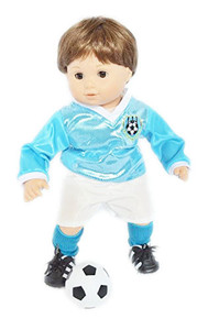 Blue Soccer Outfit For Bitty Twins Boys