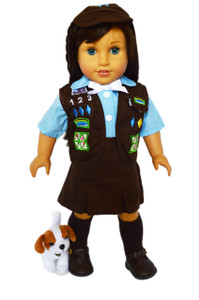 My Brittany's Girl Scouts Brownie Outfit for American Girl Dolls-Skirt Vest