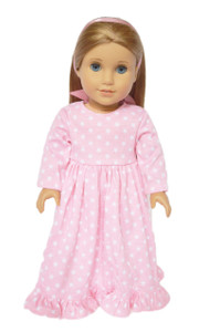 Pink Star Nightgown with Hair Ribbon