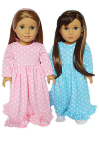 2 Pack Nightgowns For 18 Inch Dolls