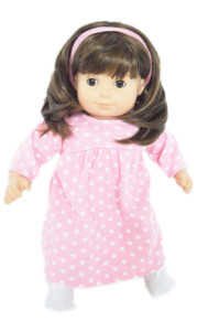 Pink Star Nightgown for 15 Inch Dolls