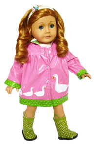 Happy Duckling Raincoat and Boots for American Girl Dolls