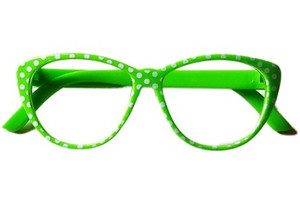 Lime Polka Dot Sunglasses For American Girl Dolls