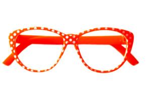 Orange Polka Dot Glasses